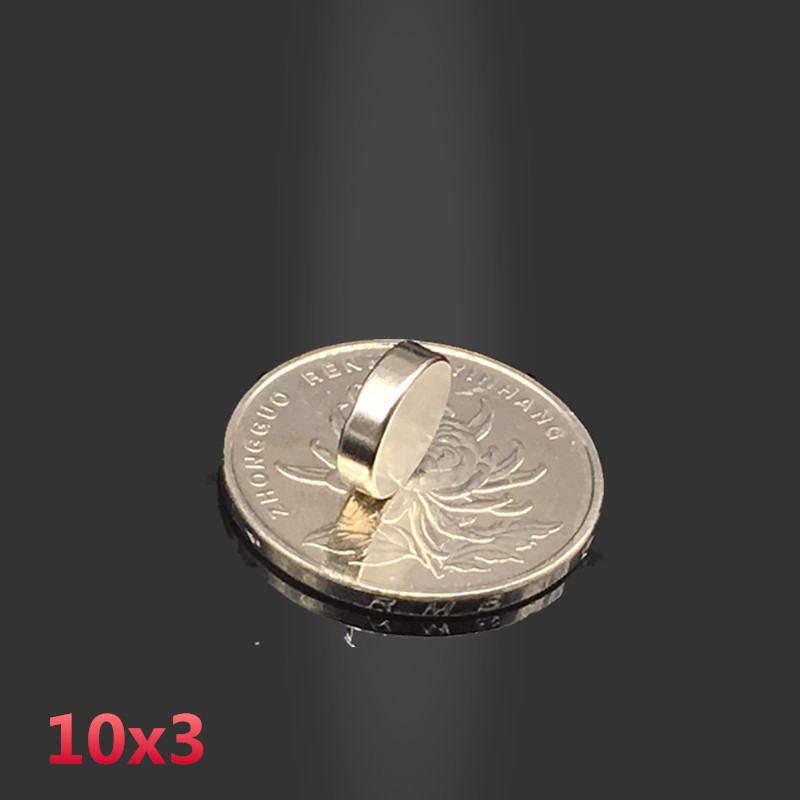 100PC 10*3 mm neodymium magnet 10mm*3mm strong rare earth neodymium magnets 10*3mm NdFeB permanent round magnetic 10mm x 3mm new style 432pcs mini 3mm diameter magnetic ball sphere neodymium puzzle ndfeb novelty toy for kids children