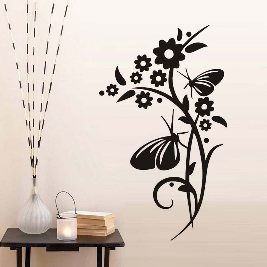 So beautiful flowers diy wall stickers for living room - Beautiful wall stickers for living room ...