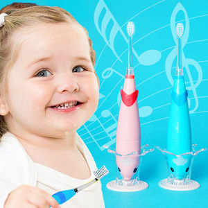 Image 5 - Seago 3 6 years old Children electric toothbrush high quality Dupont teeth brush head music tooth brush sonic baby safe healthy
