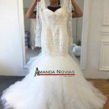 AMANDA NOVIAS Nice Mermaid Wedding Dress With Sleeves