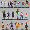 20pcs/lot Dragon Ball Z GT Action Figures Crazy Party 10CM Cell/Freeza/Goku PVC Dragonball Figures Best Gift Cute Doll Toys Hot