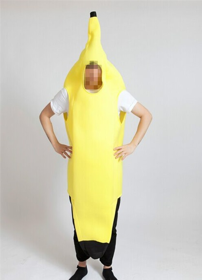 free shipping <font><b>Men</b></font> Cosplay Adult Fancy Dress Funny <font><b>sexy</b></font> Banana Costume <font><b>halloween</b></font> Christmas Costume image