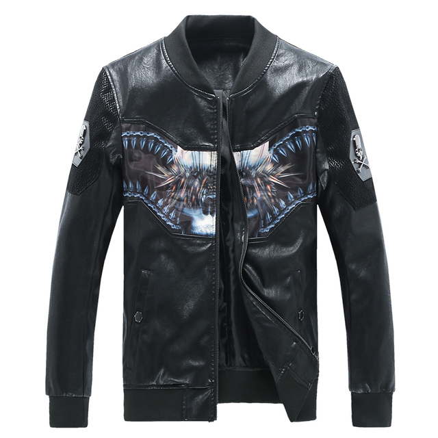 2016 New Arrival Mens Leather Jackets and Coats Famous Brand Male Leather Jacket Oversized 5XL Black Suede Jacket Hot Sale