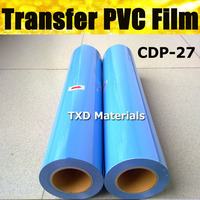 Free Shipping Whole Roll PVC transfer film with size 50CMX25M/ROLL CDP 27 LIGHT BLUE COLOR