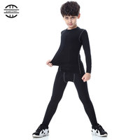 Yuerlian New Children Compression Wicking sport suit Fitness Tight Tracksuit Long T shirt leggings Pant Gym Kids Running Set