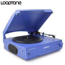 LoopTone Belt Drive 33/45/78 RPM Vinyl LP Record Player Turntable Disc Players Built-in Speakers Headphone Jack&RCA Line-out