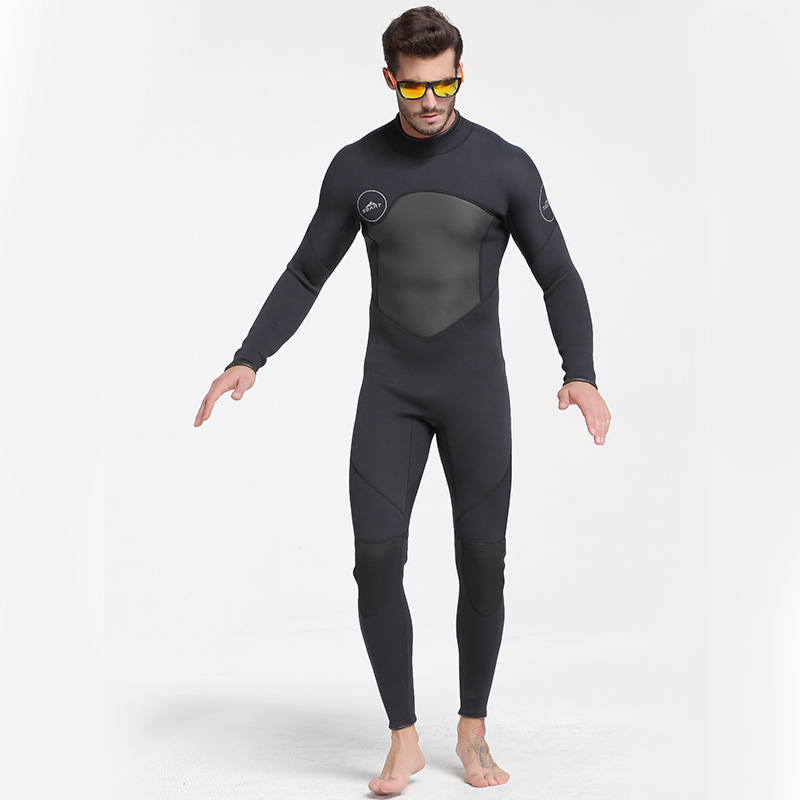 Men Plus Size Diving Wetsuit Keep Warm 3mm Neoprene One Piece Full Suit Blind Stitching Jumpsuit Wet Suits Surfing Suit Black men s winter warm swimwear rashguard male camouflage one piece swimsuit 3mm neoprene wetsuit man snorkeling diving suit