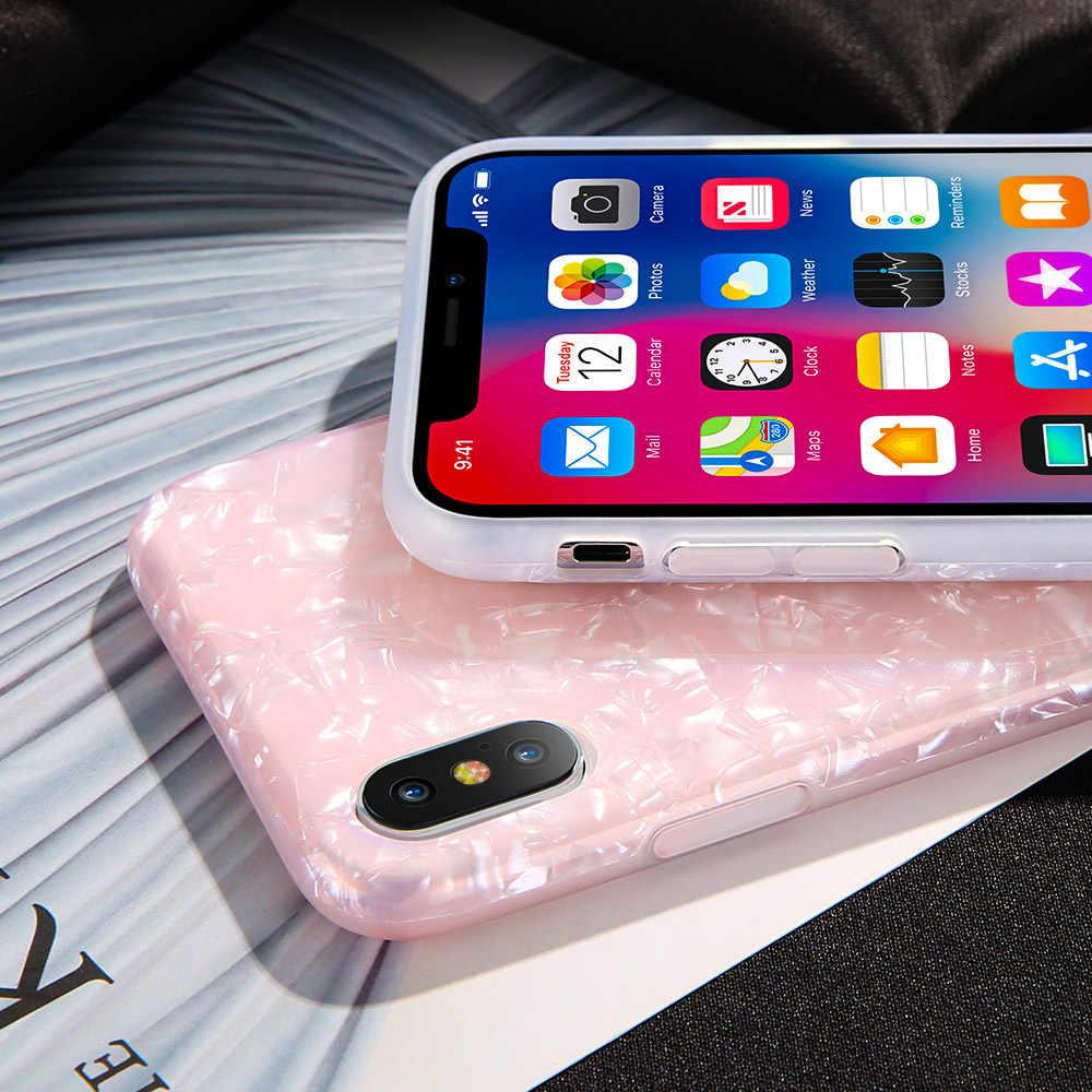 KISSCASE Dream Shell узор телефон чехол для iPhone 6 7 Plus Сияющие Блестки Мягкий силиконовый чехол для iPhone X XS Max XR 6 S 7 8 Plus