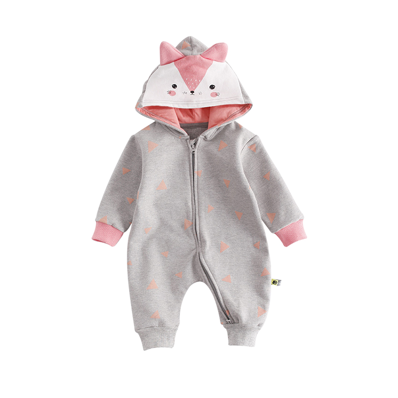 ba727429cb37 Buy Autumn Toddler Cotton Hooded Baby Rompers Boys Girls Long Sleeve ...