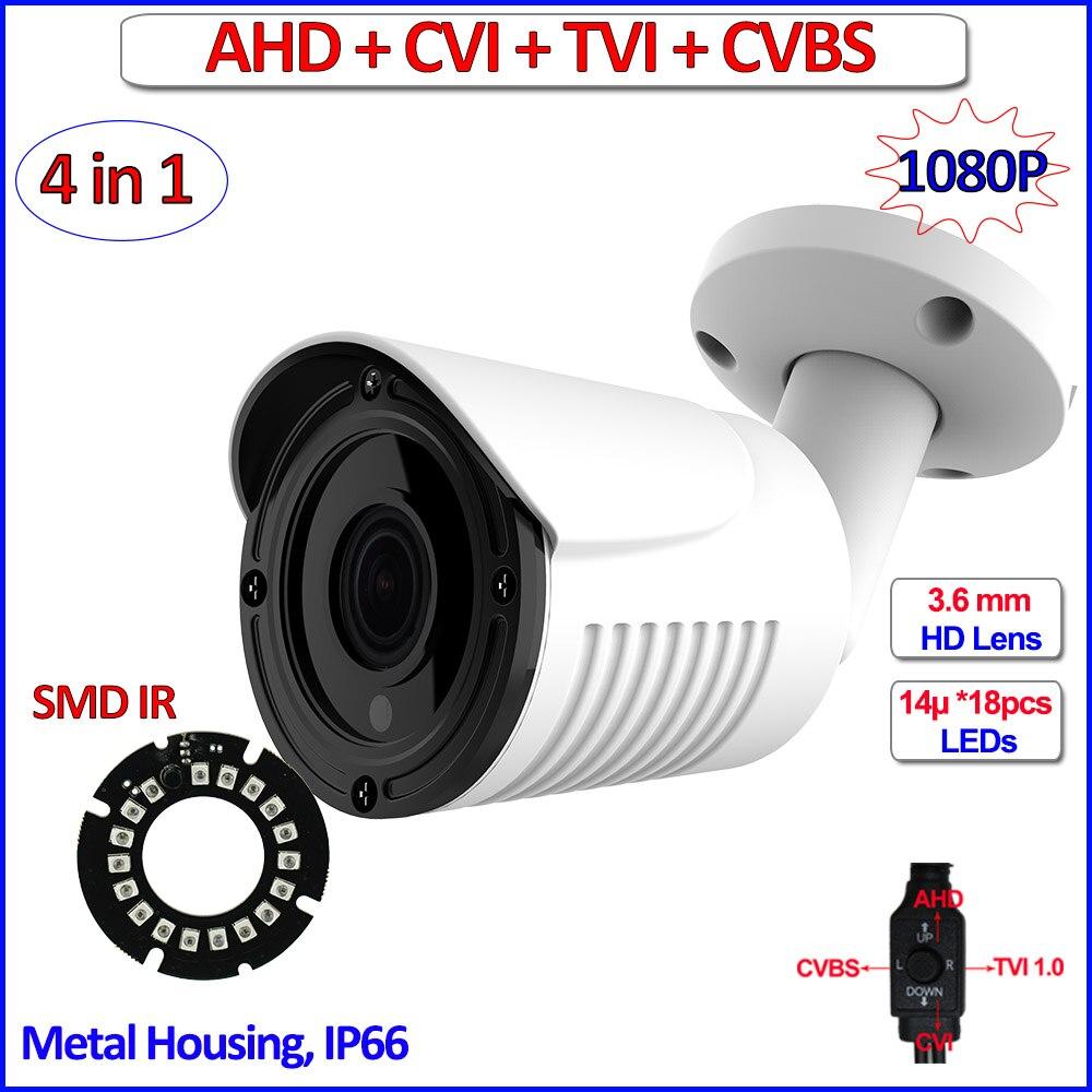 2MP 1080P 4in1 AHD HDCVI HDTVI surveillance camera Color Night Vision outdoor 1.0MP 720P cctv security camera, free bracket, OSD 2mp ahd h hdcvi hdtvi 960h 4in1 cctv camera ahd camera 1080p outdoor hd analog security ip66 f22 sensor 3 6mm lens osd ir cut