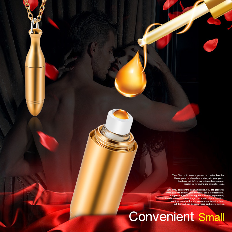 MUB - Fashion Mini 1ml Aluminum Perfume Bottle Bullet Necklace With Chain Pendant For Ladies Refillable Roll-on Bottles Gifts