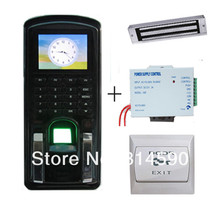 125KHz RFID Fingerprint Access Control System Kit + Magnetic Lock + Power Supply + Exit Button Realand Access Control System