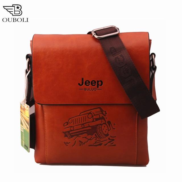 f21b877763 Bag men 2016 famous brands JEEP men messenger bags PU leather bag briefcase  designer high quality
