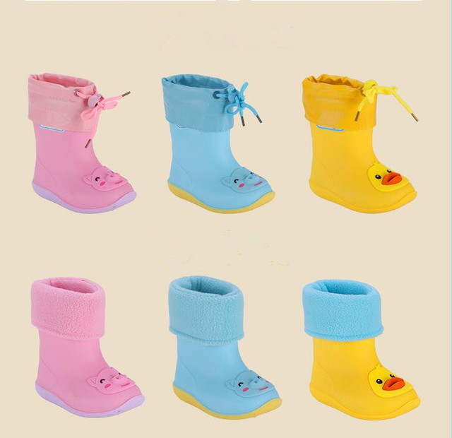 Sıcak Yeni Moda Klasik çocuk ayakkabıları PVC Kauçuk Çocuklar Karikatür Ayakkabı çocuk su ayakkabısı Su Geçirmez yağmur çizmeleri 14 cm-19 cm