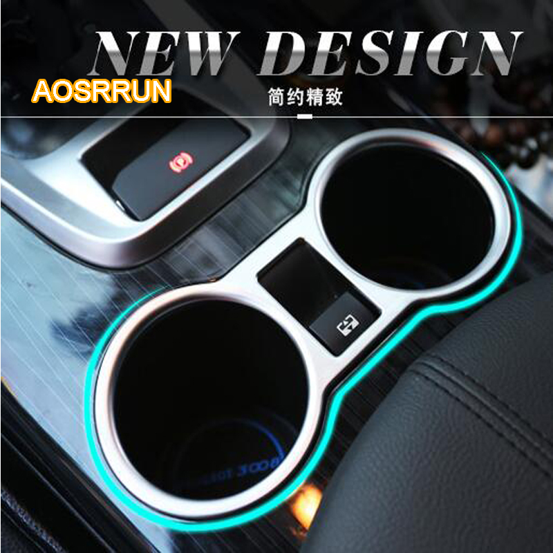 AOSRRUN ABS electroplating A water cup for the front of the water cup Cover Car accessories FOR Peugeot 3008 2013 2014 2015 2016