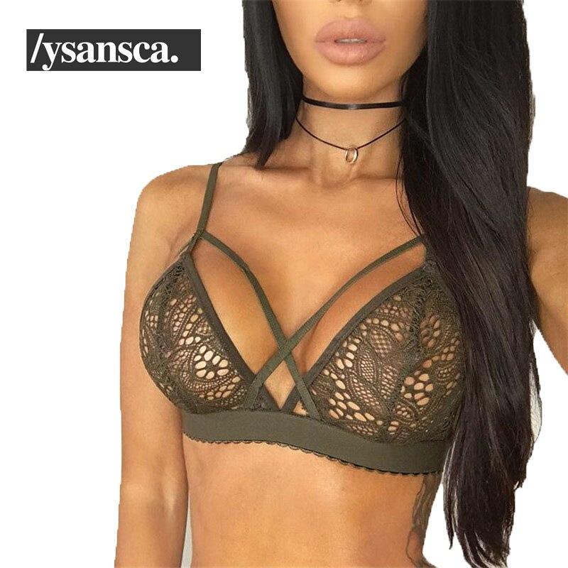 5cf06db2e Sutiã de renda Cortada Sem Forro Sutiã Bralette Moda Gaiola Bonito Colheita  Top Sexy Lingerie Preta