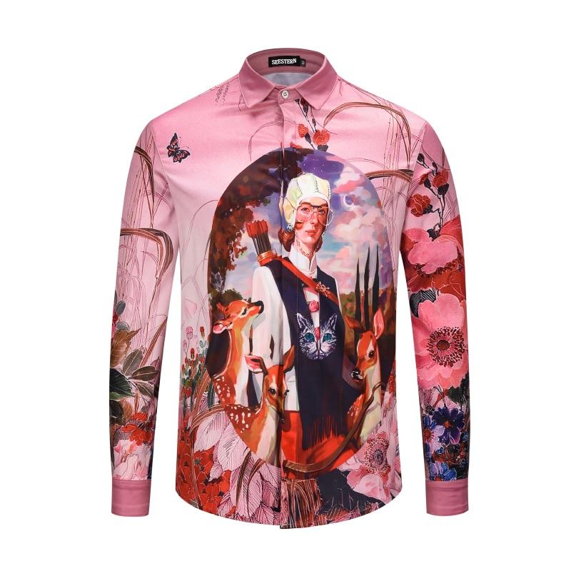 Seestern marca ropa Pink camisetas imprimir carácter flor ciervos ... 203632da138