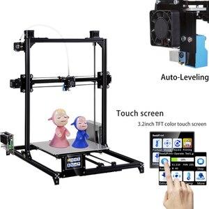 Image 1 - 2019 flsun tamanho de impressão i3 impressora 3d, 300x300x420mm sistema de autonivelamento automático, extrusora dupla kit diy touchscreen de 3.2 polegadas