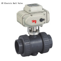 DN50 Control Motorized UPVC Socket Ball Valve, Plastic Electric Actuator Ball Valve For Corrosion resistance