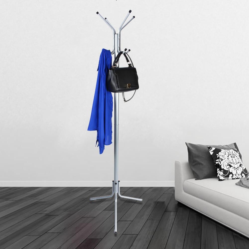 1pcs 8 Hook Rotating Hanger Coat Hat Bag Clothes Rack Umbrella Garment Holder Stand Metal Hanger Organiser Home Decor