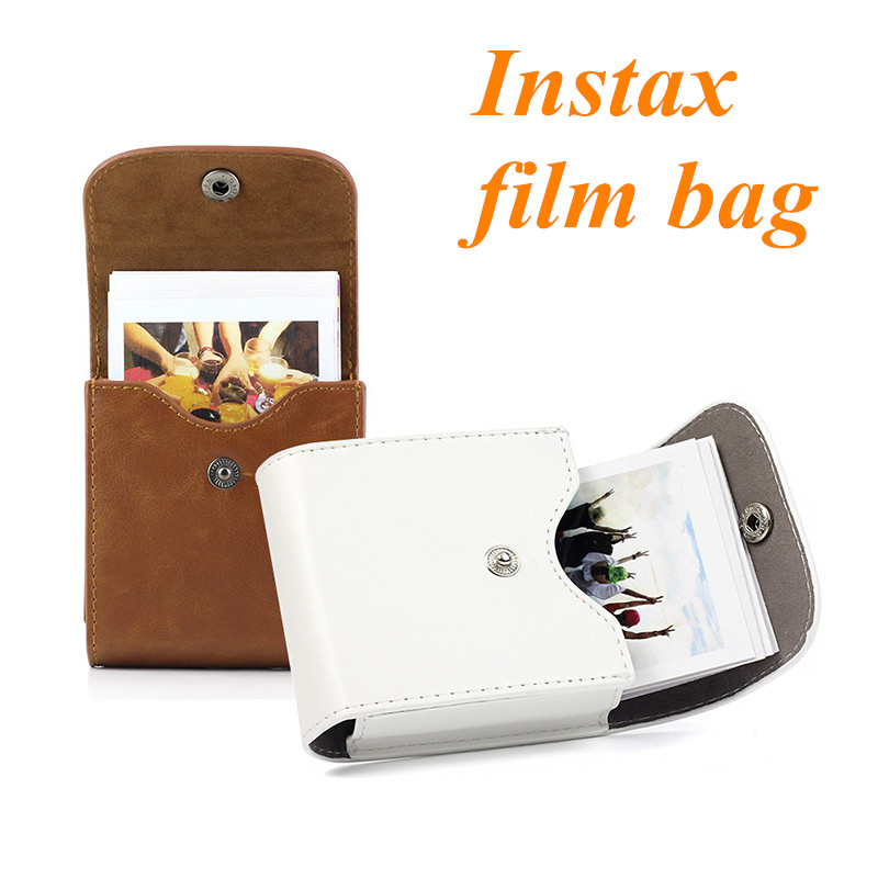 Fujifilm Instax Mini Film Waterproof PU Leather Photo Storage Bag Pouch Pocket Case for fuji Square SQ20 SQ10 SQ6 SP-3 Camera