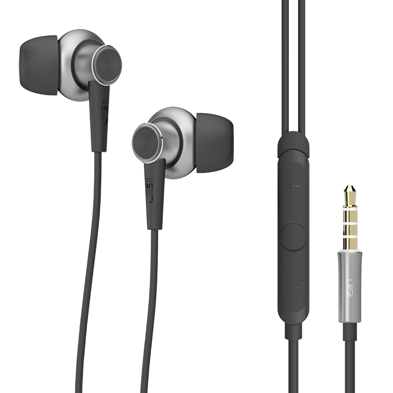 UiiSii Truly Hifi Wired Control In Ear Earphone Metal Headphone With Microphone For iPhone Samsung Xiaomi Huawei Mobile Phone