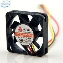 FD124010HB Duplo Rolamento De Esferas Ventilador de Refrigeração DC 12 V 0.09A 6500 RPM 4010 40*40*10mm 4 cm