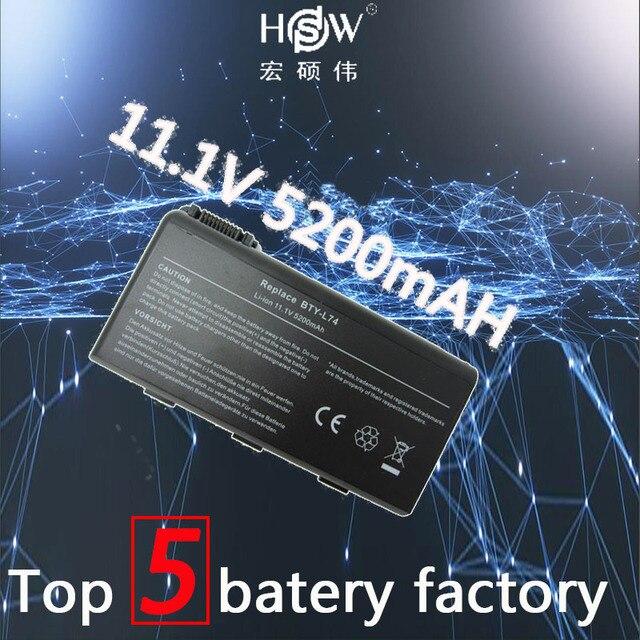 HSW 5200 мАч аккумулятор для MSI BTY-L74 BTY-L75 для MSI A6200 CR600 CR610 CR620 A5000 CR700 A6000 BTY-L74 BTY-L75 MS-1682 акумуляторная батарея