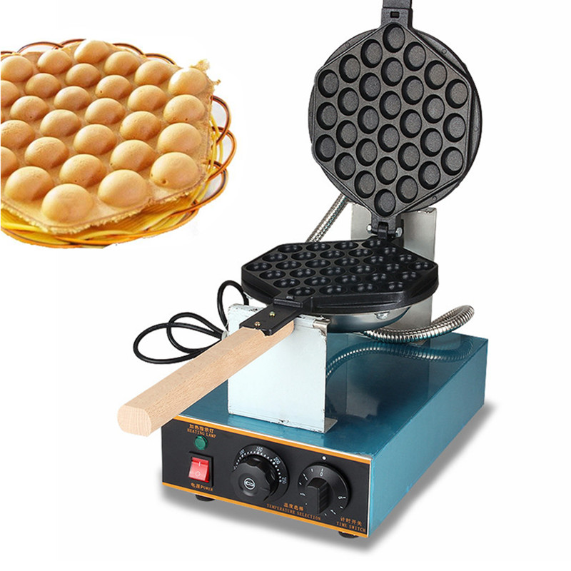 Stainless Steel Egg Waffle Machine, Egg Waffle Maker Free Shipping 220V/110V Electric Eggette Maker With Thermostat And Timer egg shaped stainless steel mechanical twist timer 60 minutes