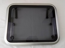 Aluminum Rectangular Deck Hatch Window With Smoke Tempered Glass For Marine Boat Yacht
