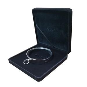 Image 3 - Polerowana stal nierdzewna obroża niewolnicza zamykany torque choker naszyjnik fetysz biżuteria z wiązaniem zestaw ograniczeń