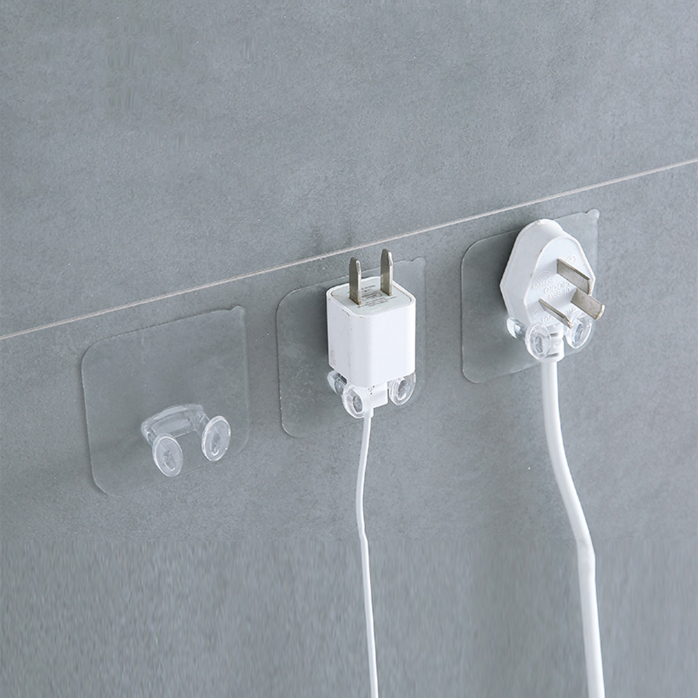 Wall Storage Hook Power Plug Socket Holder Wall Adhesive Hooks Plug Hook For Kitchen Bathroom Accessories