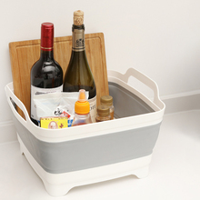 Foldable Fruit Basket Dish Sink Large Drain Kitchen Household Plastic Portable And Vegetable Storage