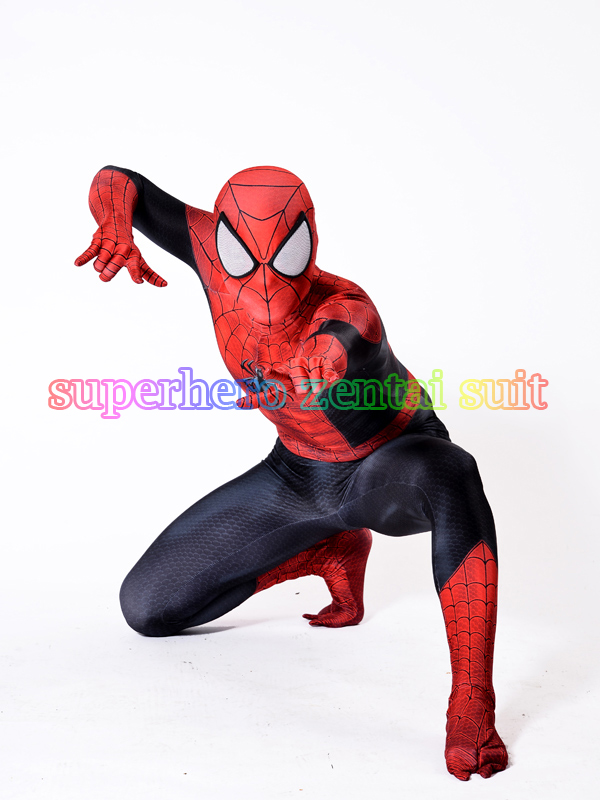 2017 Spiderman Costume 3D Printed Lycra Spandex Spider-man Superhero Costume For Halloween Cosplay Zentai Suit Kids/Adult movie spider man homecoming costume adult spiderman cosplay costume halloween cool superhero spandex zentai suit aubalee