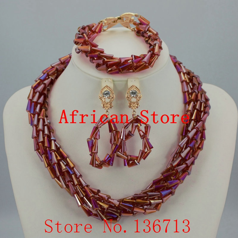 2016 Fashion african coral beads necklace set nigerian wedding african beads jewelry Set Free shipping L053 new fashion nigerian african wedding coral beads jewelry set chunky statement necklace set full beads free shipping cnr345