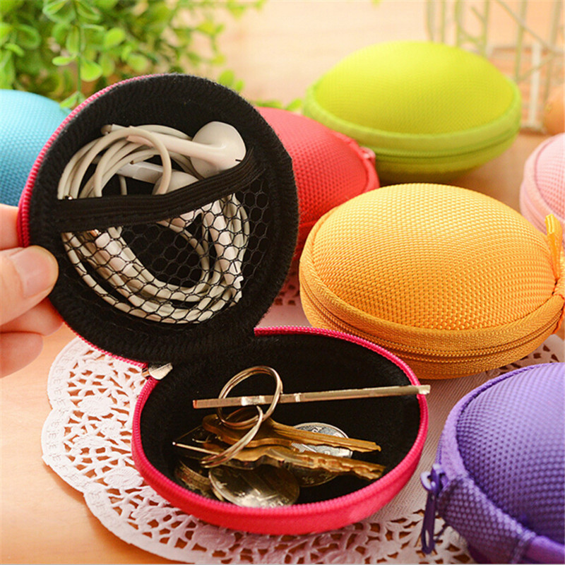 Headphones Earphone Cable Earbuds Storage Hard Case Carrying Pouch bag SD Card Hold box 4N1329