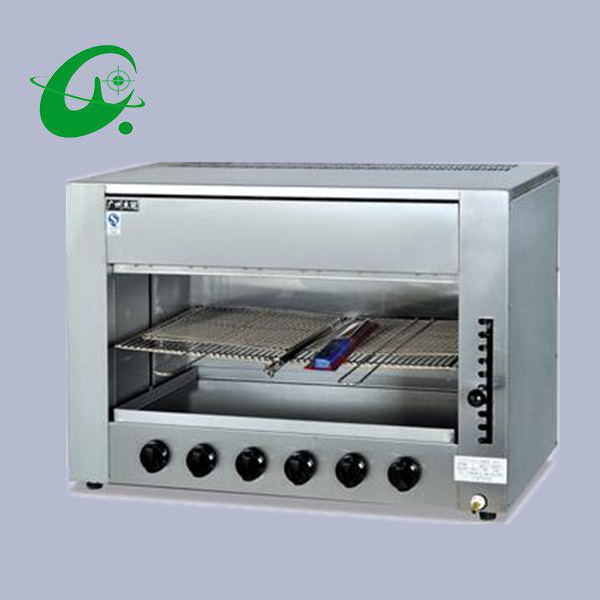 Commercial Infrared Gas kitchen equipment Salamander with 6 burner gas BBQ grill machine