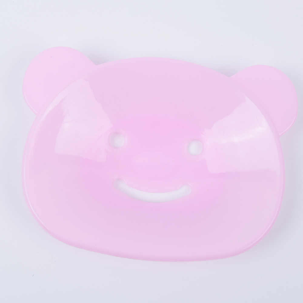 Cute Cartoon uśmiech w kształcie niedźwiedzia mydelniczka kreatywny łazienka wystrój domu 2 sztuk nowy