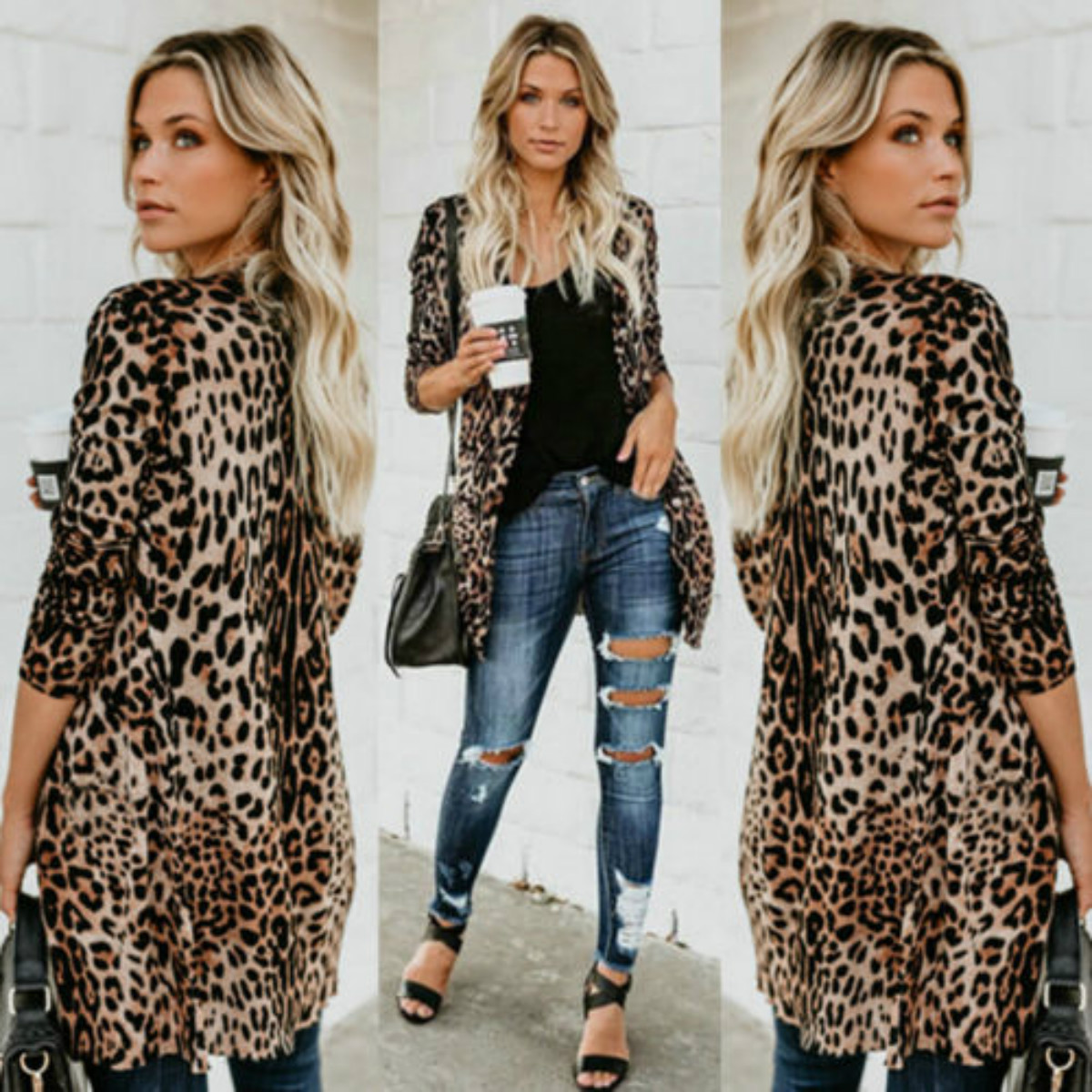 Jackets 2018 Hot Autumn Classic New Fashion Women V Collar Long Sleeve Leopard print Coat Jacket Jackets 2018 Hot Autumn Classic New Fashion Women V Collar Long Sleeve Leopard print Coat Jacket S-XL