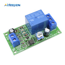 DC 12V 10 V-14.5 V Konduksi NE555 Delay Timer Switch Adjustable Time Delay Relay Modul Mematikan 1 ~ 60 Detik(China)