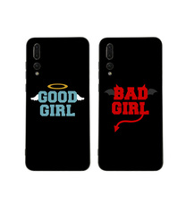цена на BFF good bad girl best friends phone case for Huawei P20 P30 Pro P20 lite P10 plus Mate 10 lite 20 pro Honor view 10 Y7 Y9 2019