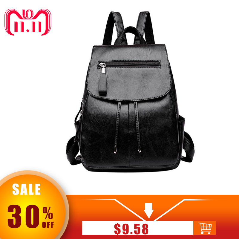 PU Leather Women Backpack Fashion School Bags For Teenager Girls Casual Women Black Backpacks Large Capacity Female Travel Daypa 2018 new fashion backpacks for teenage girls large capacity travel backpack women s pu leather backpack school bags casual women