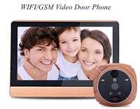 7 дюймов wifi/GSM глазок зритель домофон видео дверной телефон