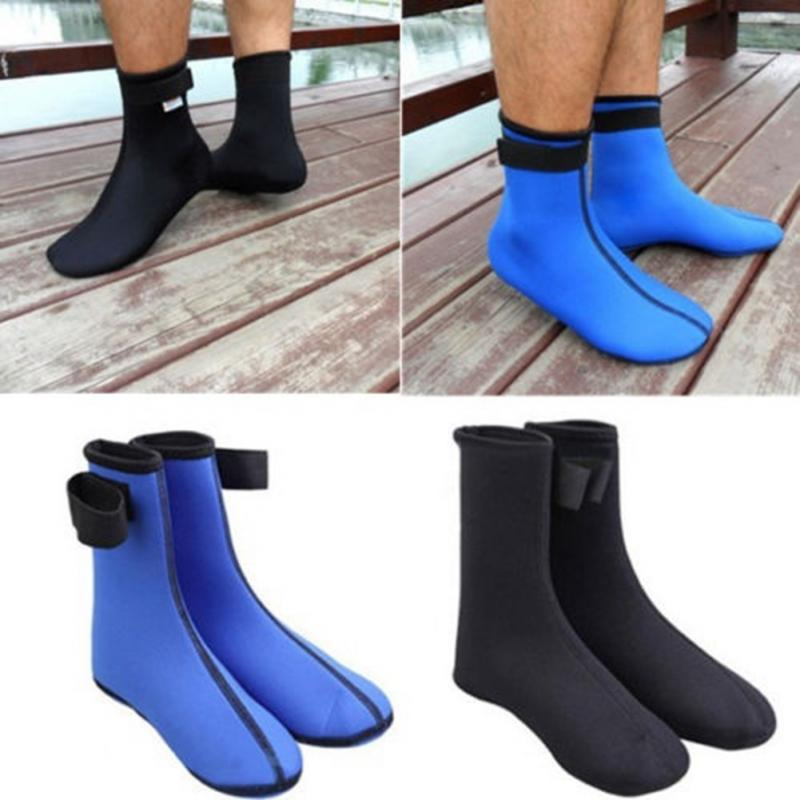 все цены на Swimming Diving Scuba Boot Socks Durable 3mm Neoprene Blue/Black Socks Foot Protector Prevent Scratches Warming Snorkeling Socks