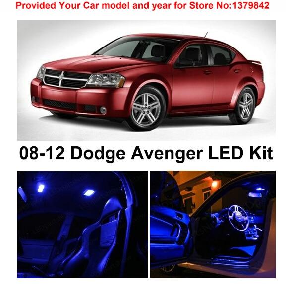 Free shipping 10pc led lights car styling hi q interior package kit for dodge avenger 2008 2012 for 2012 dodge avenger interior lights