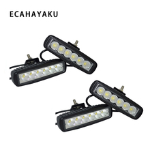 ECAHAYAKU 4Pcs 6inch 18W LED Light Bar 12V-80V Motorcycle Offroad 4x4 ATV Spotlight Truck Tractor Warning Work fog IP67