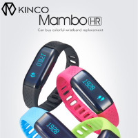 KINCO Bluetooth Waterproof Heart Rate Monitor Motion Detection Smart Wristband Sleep Monitors Steps APP Bracelet For