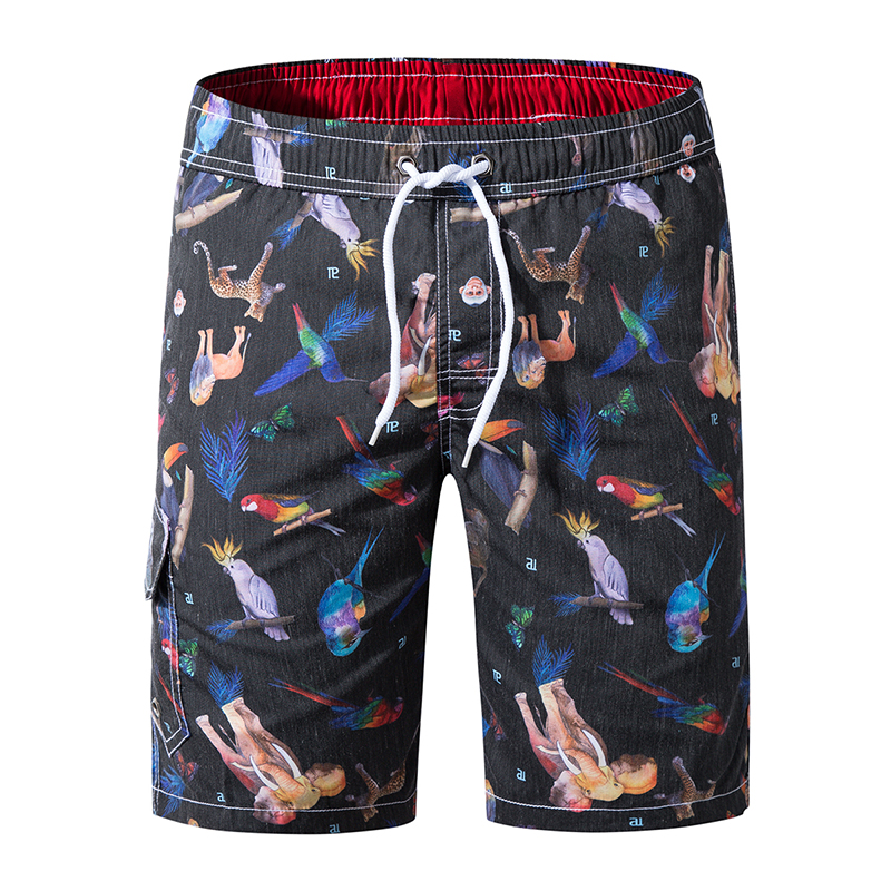2019 Casual Men   Shorts   Beach   Board     Shorts   Men Quick Drying Summer Casual vacation Beach   Shorts   Polyester Boardshorts Plus size