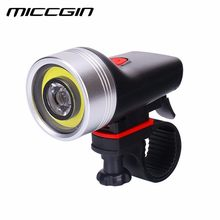 USB Rechargeable XPE2 COB Bike Front Light IPX5 Waterproof MICCGIN 1000mAH MTB Bicycle Front Lamp Cycling Headlight Light(China)
