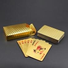 UB Gold Playing Cards Poker Game Deck silver Foil Poker Set Plastic Magic Card Waterproof Cards все цены